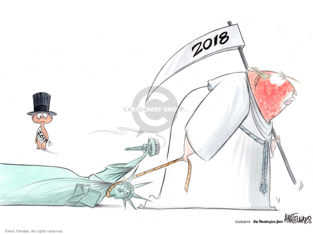 Ann Telnaes  Ann Telnaes' Editorial Cartoons 2018-12-29 baby new year