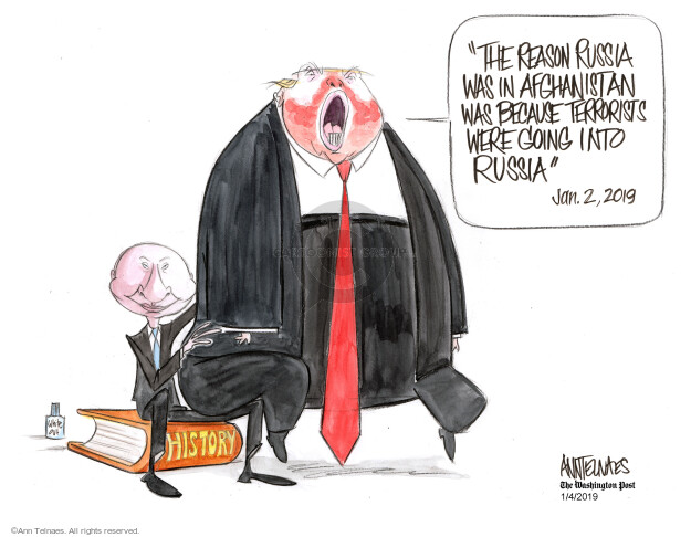 Cartoonist Ann Telnaes  Ann Telnaes' Editorial Cartoons 2019-01-04 United States and Russia
