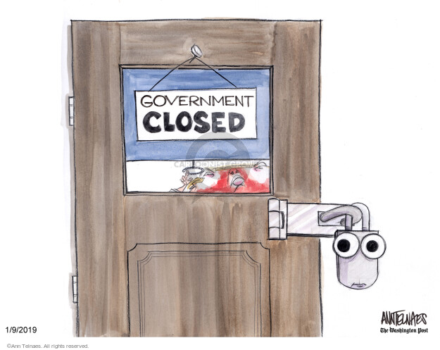 Cartoonist Ann Telnaes  Ann Telnaes' Editorial Cartoons 2019-01-09 majority