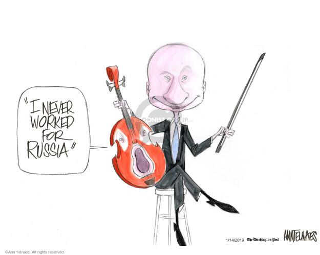 Ann Telnaes  Ann Telnaes' Editorial Cartoons 2019-01-14 American president