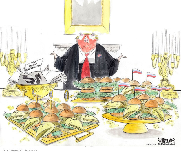 Ann Telnaes  Ann Telnaes' Editorial Cartoons 2019-01-15 profit
