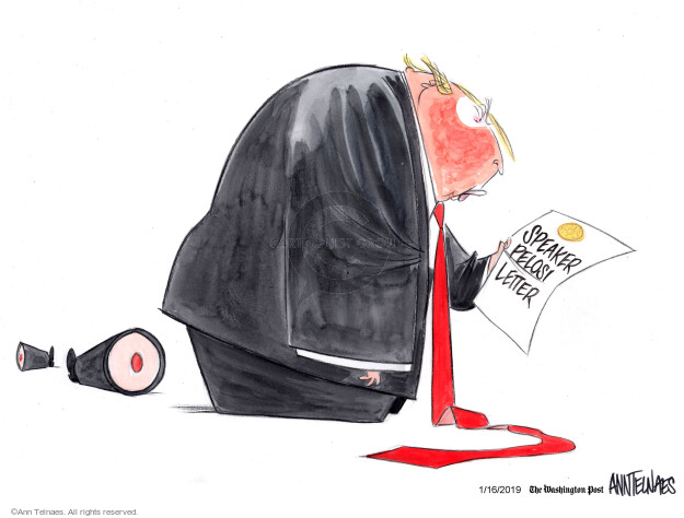 Ann Telnaes  Ann Telnaes' Editorial Cartoons 2019-01-16 speech