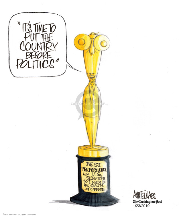 Cartoonist Ann Telnaes  Ann Telnaes' Editorial Cartoons 2019-01-23 majority