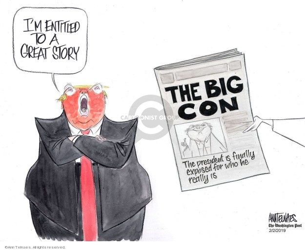 Ann Telnaes  Ann Telnaes' Editorial Cartoons 2019-02-01 media coverage