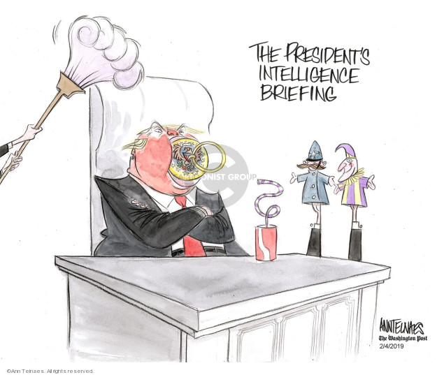 The Presidents intelligence briefing.