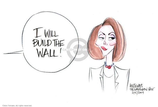 Cartoonist Ann Telnaes  Ann Telnaes' Editorial Cartoons 2019-02-05 house majority leader