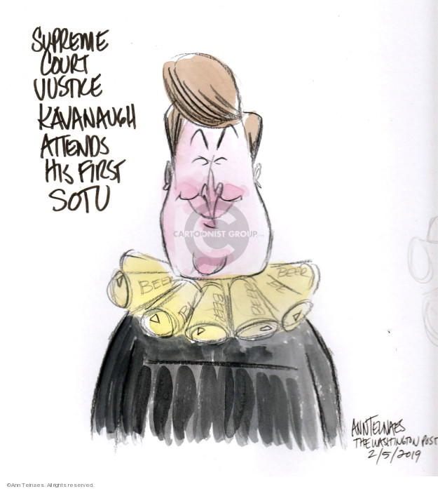 Ann Telnaes  Ann Telnaes' Editorial Cartoons 2019-02-05 court