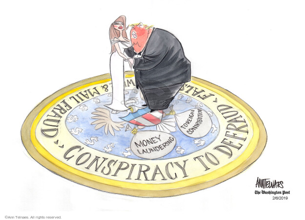 Ann Telnaes  Ann Telnaes' Editorial Cartoons 2019-02-06 criminal