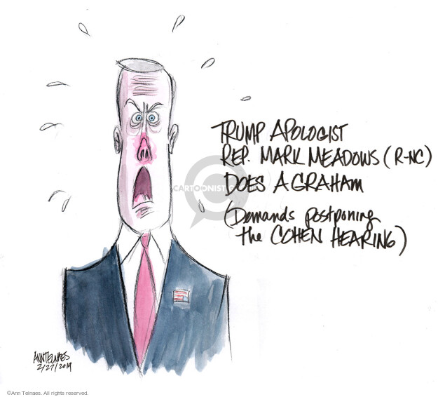 Ann Telnaes  Ann Telnaes' Editorial Cartoons 2019-02-27 Michael