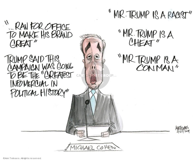 Ann Telnaes  Ann Telnaes' Editorial Cartoons 2019-02-27 intelligence