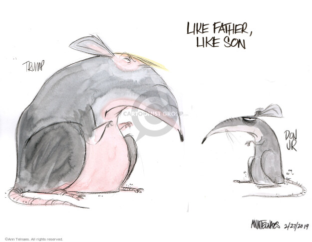 Cartoonist Ann Telnaes  Ann Telnaes' Editorial Cartoons 2019-02-27 family