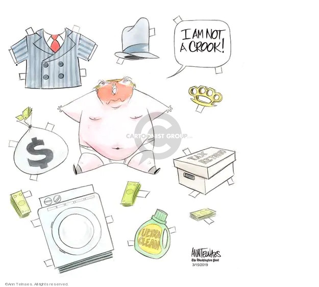 Cartoonist Ann Telnaes  Ann Telnaes' Editorial Cartoons 2019-03-15 presidential administration