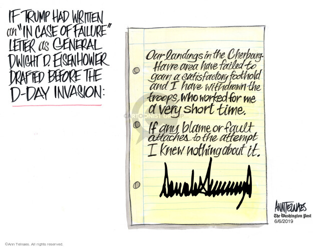Ann Telnaes  Ann Telnaes' Editorial Cartoons 2019-06-06 blame