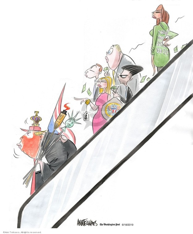 Ann Telnaes  Ann Telnaes' Editorial Cartoons 2019-06-18 profit