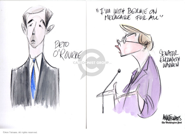 Cartoonist Ann Telnaes  Ann Telnaes' Editorial Cartoons 2019-06-26 sketch