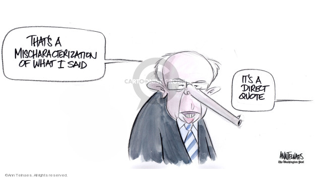 Ann Telnaes  Ann Telnaes' Editorial Cartoons 2019-06-27 democratic debate