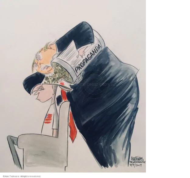 Cartoonist Ann Telnaes  Ann Telnaes' Editorial Cartoons 2019-08-09 supporter