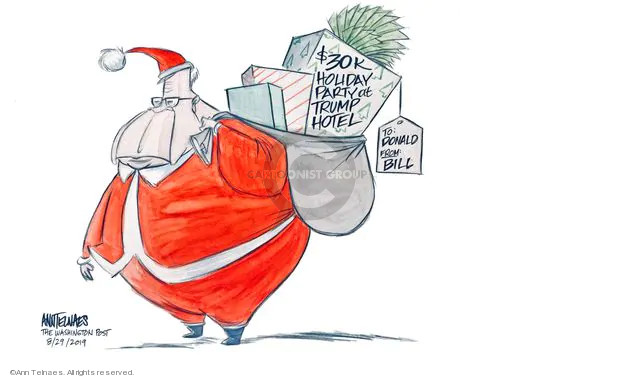 Ann Telnaes  Ann Telnaes' Editorial Cartoons 2019-08-29 claus