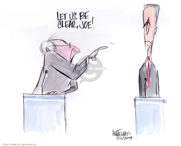 Ann Telnaes  Ann Telnaes' Editorial Cartoons 2019-09-12 2020 Election Joe Biden