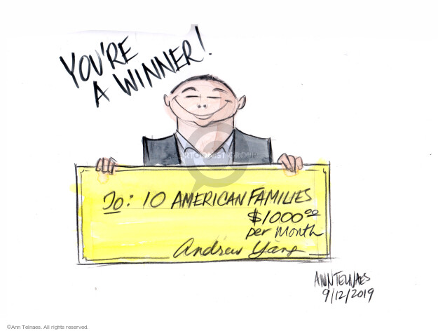 Ann Telnaes  Ann Telnaes' Editorial Cartoons 2019-09-12 2020 election debate