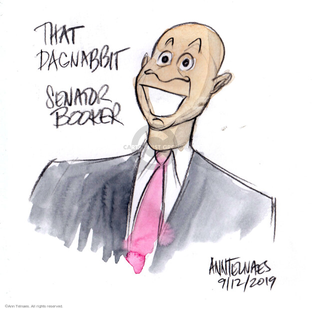 Ann Telnaes  Ann Telnaes' Editorial Cartoons 2019-09-12 democratic debate
