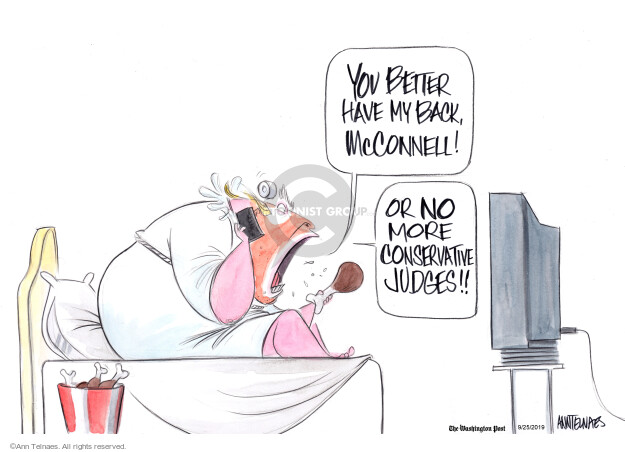 Cartoonist Ann Telnaes  Ann Telnaes' Editorial Cartoons 2019-09-25 senate