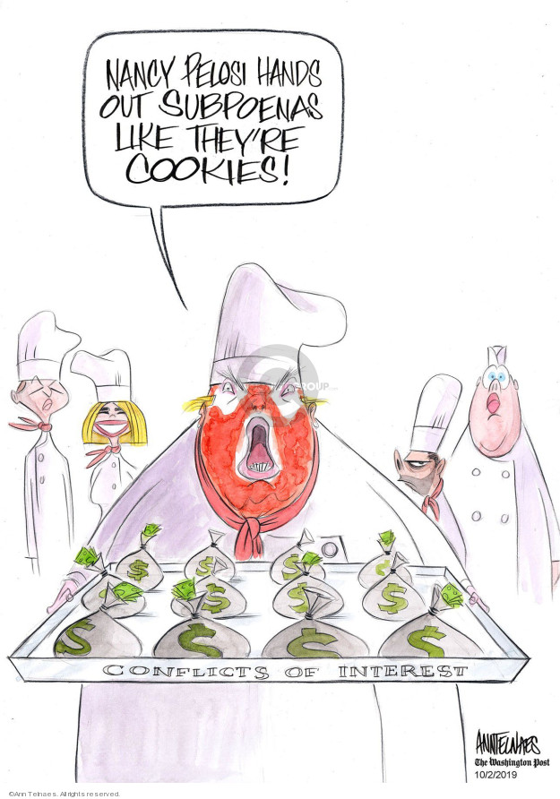 Cartoonist Ann Telnaes  Ann Telnaes' Editorial Cartoons 2019-10-02 cookie