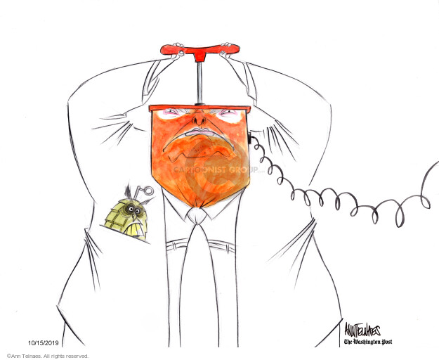 Ann Telnaes  Ann Telnaes' Editorial Cartoons 2019-10-15 face