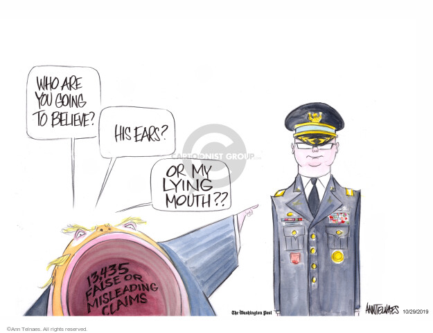 Ann Telnaes  Ann Telnaes' Editorial Cartoons 2019-10-29 presidential administration