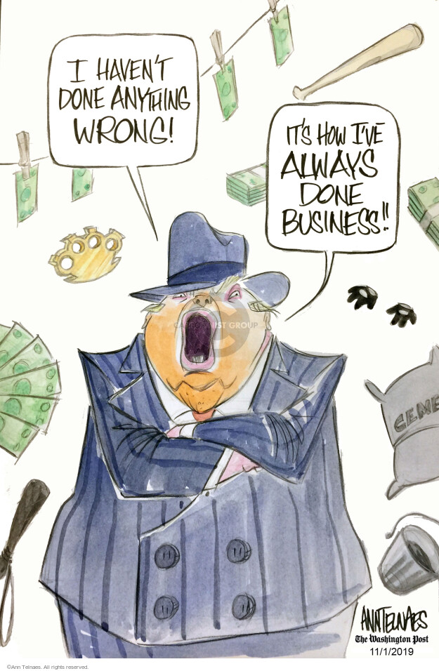 Ann Telnaes  Ann Telnaes' Editorial Cartoons 2019-11-01 threat