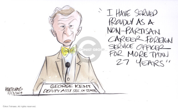 Ann Telnaes  Ann Telnaes' Editorial Cartoons 2019-11-13 George