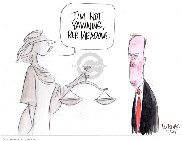 Cartoonist Ann Telnaes  Ann Telnaes' Editorial Cartoons 2019-11-13 Lady Justice