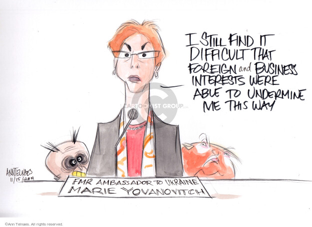 Ann Telnaes  Ann Telnaes' Editorial Cartoons 2019-11-15 former