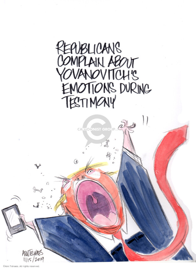 Cartoonist Ann Telnaes  Ann Telnaes' Editorial Cartoons 2019-11-15 Congress