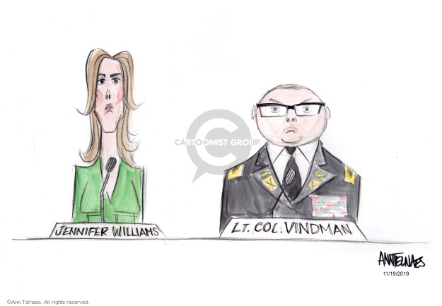 Jennifer Williams. Lt. Col. Vindman.
