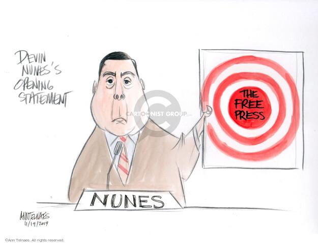 Ann Telnaes  Ann Telnaes' Editorial Cartoons 2019-11-19 press