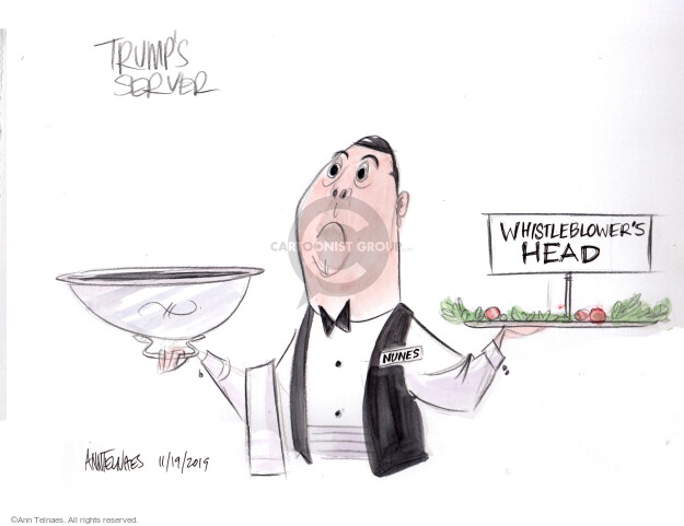 Cartoonist Ann Telnaes  Ann Telnaes' Editorial Cartoons 2019-11-19 impeach