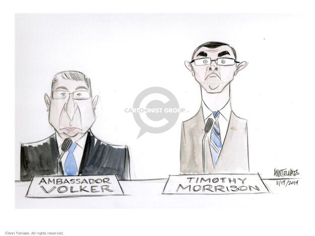 Cartoonist Ann Telnaes  Ann Telnaes' Editorial Cartoons 2019-11-19 diplomat
