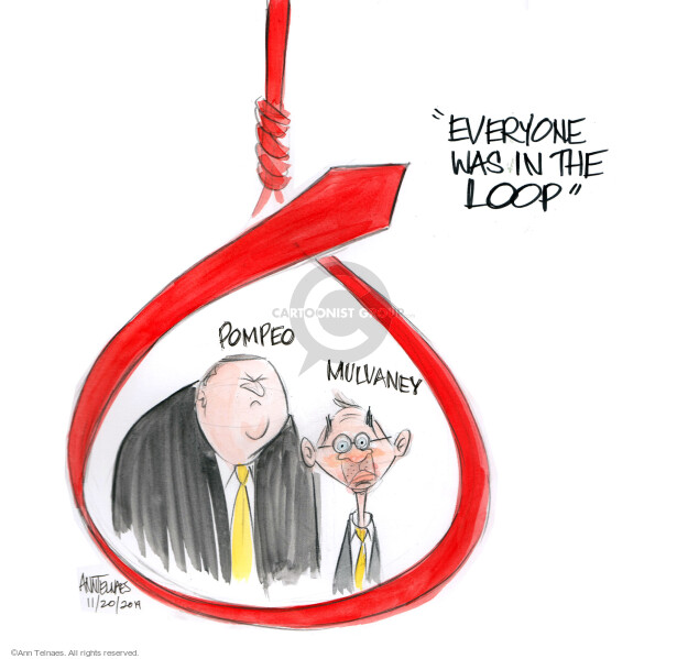 Ann Telnaes  Ann Telnaes' Editorial Cartoons 2019-11-20 Secretary of State