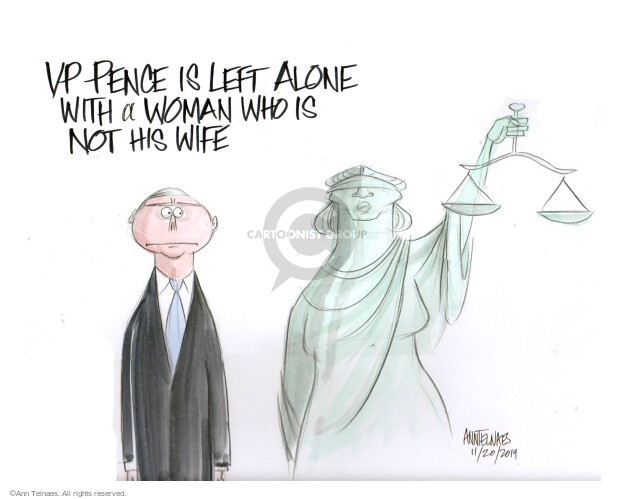 Cartoonist Ann Telnaes  Ann Telnaes' Editorial Cartoons 2019-11-20 Lady Justice