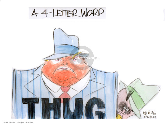 Cartoonist Ann Telnaes  Ann Telnaes' Editorial Cartoons 2019-11-20 Presidency