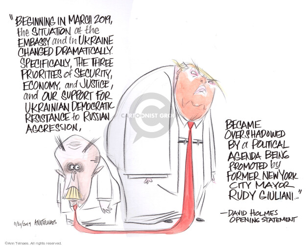 Cartoonist Ann Telnaes  Ann Telnaes' Editorial Cartoons 2019-11-21 presidential administration