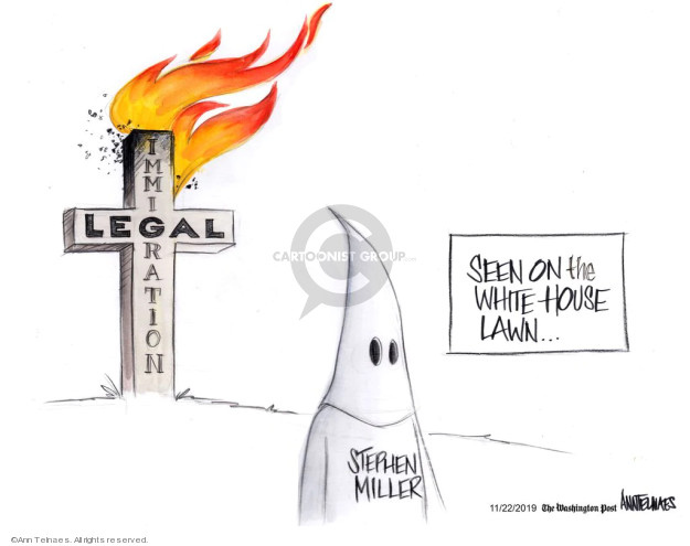 Ann Telnaes  Ann Telnaes' Editorial Cartoons 2019-11-22 house