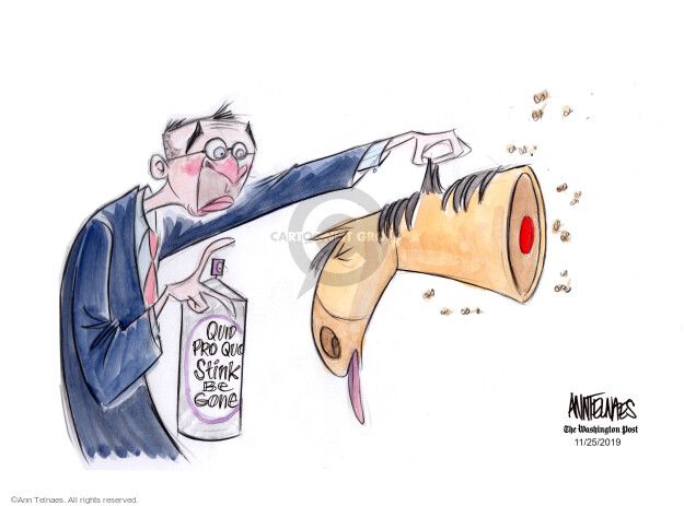 Ann Telnaes  Ann Telnaes' Editorial Cartoons 2019-11-25 threat