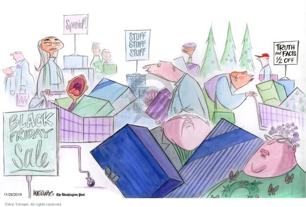 Ann Telnaes  Ann Telnaes' Editorial Cartoons 2019-11-29 consumerism