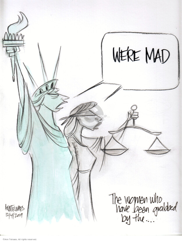 Ann Telnaes  Ann Telnaes' Editorial Cartoons 2019-12-04 lady