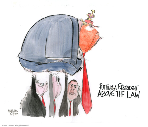 Cartoonist Ann Telnaes  Ann Telnaes' Editorial Cartoons 2019-12-04 republican president