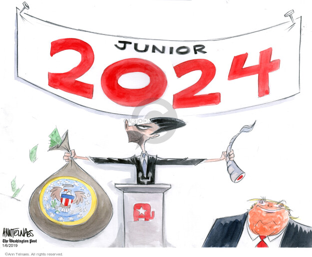 Ann Telnaes  Ann Telnaes' Editorial Cartoons 2020-01-06 conflict of interest