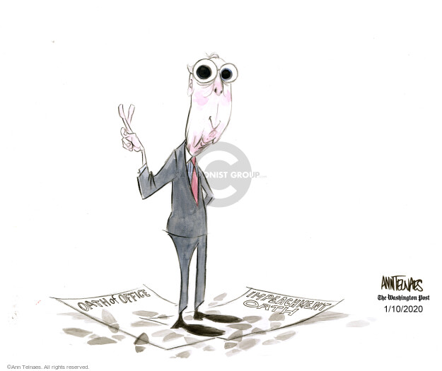 Cartoonist Ann Telnaes  Ann Telnaes' Editorial Cartoons 2020-01-10 Donald Trump Republicans