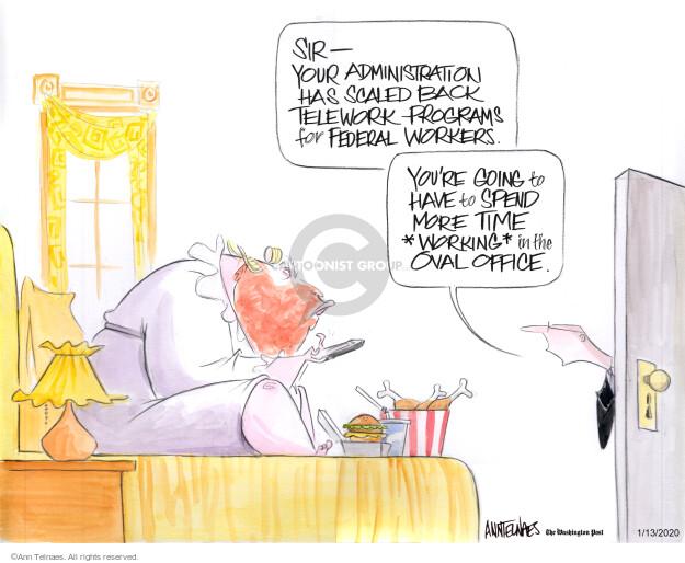 Cartoonist Ann Telnaes  Ann Telnaes' Editorial Cartoons 2020-01-13 office